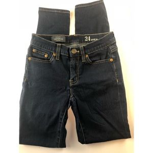 J Crew toothpick jeans size 24 ankle jeans